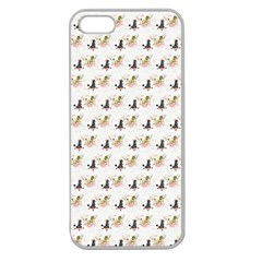 Retro Poodles  Apple Seamless iPhone 5 Case (Clear)
