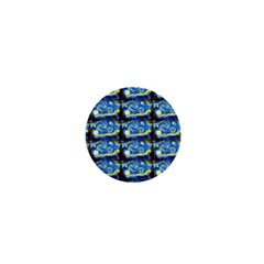 Starry Night By Vincent Van Gogh 1889  1  Mini Button Magnet