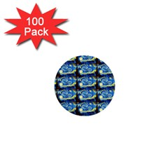 Starry Night By Vincent Van Gogh 1889  1  Mini Button (100 pack)