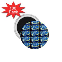 Starry Night By Vincent Van Gogh 1889  1.75  Button Magnet (100 pack)