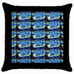 Starry Night By Vincent Van Gogh 1889  Black Throw Pillow Case