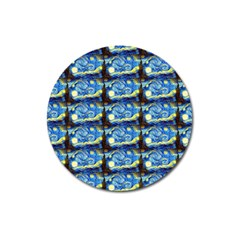 Starry Night By Vincent Van Gogh 1889  Magnet 3  (Round)