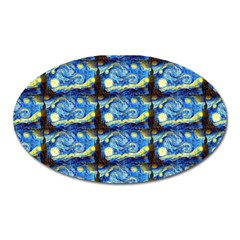 Starry Night By Vincent Van Gogh 1889  Magnet (Oval)