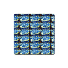 Starry Night By Vincent Van Gogh 1889  Magnet (Square)