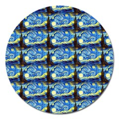 Starry Night By Vincent Van Gogh 1889  Magnet 5  (Round)