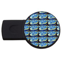 Starry Night By Vincent Van Gogh 1889  1GB USB Flash Drive (Round)