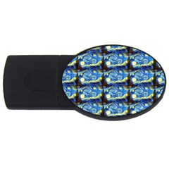Starry Night By Vincent Van Gogh 1889  4GB USB Flash Drive (Oval)