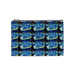 Starry Night By Vincent Van Gogh 1889  Cosmetic Bag (Medium)