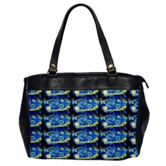 Starry Night By Vincent Van Gogh 1889  Oversize Office Handbag (One Side)
