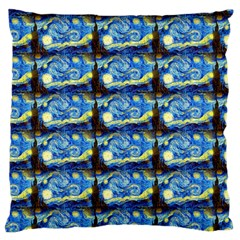 Starry Night By Vincent Van Gogh 1889  Large Cushion Case (One Side)