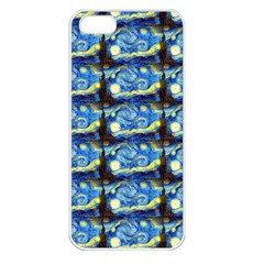 Starry Night By Vincent Van Gogh 1889  Apple iPhone 5 Seamless Case (White)
