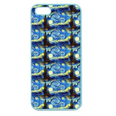 Starry Night By Vincent Van Gogh 1889  Apple Seamless iPhone 5 Case (Color)