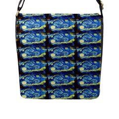 Starry Night By Vincent Van Gogh 1889  Flap Closure Messenger Bag (Large)
