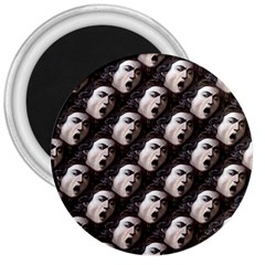The Head Of The Medusa By Michelangelo Caravaggio 1590 3  Button Magnet
