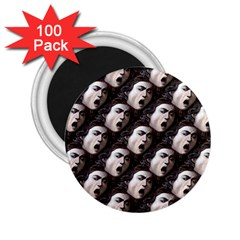 The Head Of The Medusa By Michelangelo Caravaggio 1590 2.25  Button Magnet (100 pack)