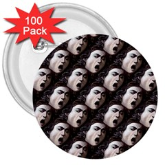 The Head Of The Medusa By Michelangelo Caravaggio 1590 3  Button (100 pack)