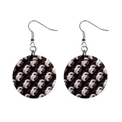 The Head Of The Medusa By Michelangelo Caravaggio 1590 Mini Button Earrings