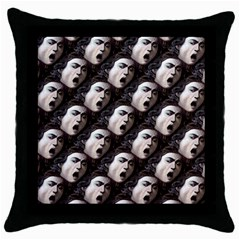 The Head Of The Medusa By Michelangelo Caravaggio 1590 Black Throw Pillow Case