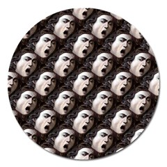 The Head Of The Medusa By Michelangelo Caravaggio 1590 Magnet 5  (Round)