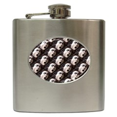 The Head Of The Medusa By Michelangelo Caravaggio 1590 Hip Flask