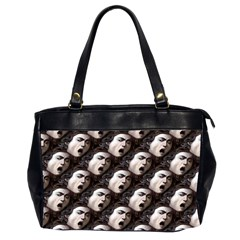 The Head Of The Medusa By Michelangelo Caravaggio 1590 Oversize Office Handbag (Two Sides)