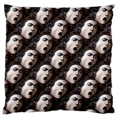 The Head Of The Medusa By Michelangelo Caravaggio 1590 Large Cushion Case (One Side)