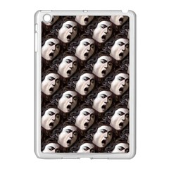 The Head Of The Medusa By Michelangelo Caravaggio 1590 Apple iPad Mini Case (White)