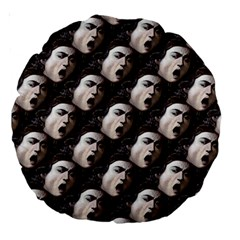 The Head Of The Medusa By Michelangelo Caravaggio 1590 18  Premium Round Cushion