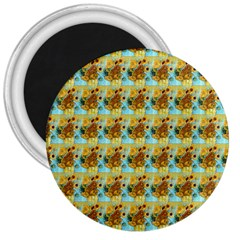 Vase With Twelve Sunflowers By Vincent Van Gogh 1889  3  Button Magnet