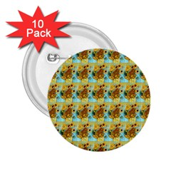 Vase With Twelve Sunflowers By Vincent Van Gogh 1889  2.25  Button (10 pack)
