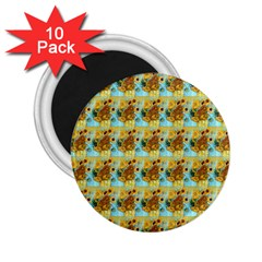 Vase With Twelve Sunflowers By Vincent Van Gogh 1889  2.25  Button Magnet (10 pack)