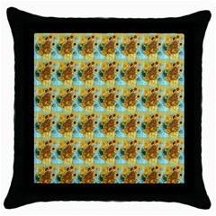 Vase With Twelve Sunflowers By Vincent Van Gogh 1889  Black Throw Pillow Case