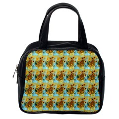 Vase With Twelve Sunflowers By Vincent Van Gogh 1889  Classic Handbag (One Side)