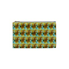 Vase With Twelve Sunflowers By Vincent Van Gogh 1889  Cosmetic Bag (Small)