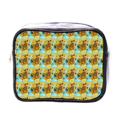 Vase With Twelve Sunflowers By Vincent Van Gogh 1889  Mini Travel Toiletry Bag (One Side)