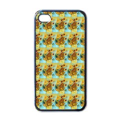 Vase With Twelve Sunflowers By Vincent Van Gogh 1889  Apple iPhone 4 Case (Black)