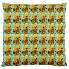 Vase With Twelve Sunflowers By Vincent Van Gogh 1889  Large Cushion Case (One Side)
