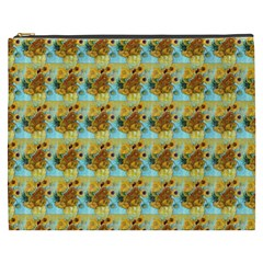 Vase With Twelve Sunflowers By Vincent Van Gogh 1889  Cosmetic Bag (XXXL)