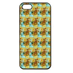 Vase With Twelve Sunflowers By Vincent Van Gogh 1889  Apple iPhone 5 Seamless Case (Black)