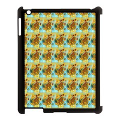 Vase With Twelve Sunflowers By Vincent Van Gogh 1889  Apple iPad 3/4 Case (Black)