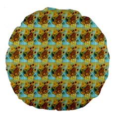 Vase With Twelve Sunflowers By Vincent Van Gogh 1889  18  Premium Round Cushion