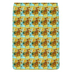 Vase With Twelve Sunflowers By Vincent Van Gogh 1889  Removable Flap Cover (Large)