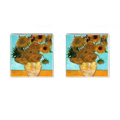 Vase With Twelve Sunflowers By Vincent Van Gogh 1889  Cufflinks (Square)
