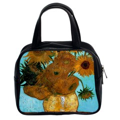 Vase With Twelve Sunflowers By Vincent Van Gogh 1889  Classic Handbag (Two Sides)