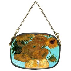 Vase With Twelve Sunflowers By Vincent Van Gogh 1889  Chain Purse (Two Side)