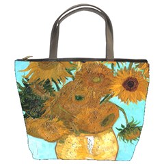 Vase With Twelve Sunflowers By Vincent Van Gogh 1889  Bucket Bag