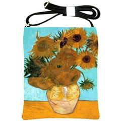 Vase With Twelve Sunflowers By Vincent Van Gogh 1889  Shoulder Sling Bag