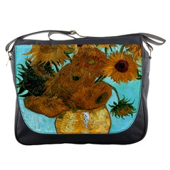 Vase With Twelve Sunflowers By Vincent Van Gogh 1889  Messenger Bag