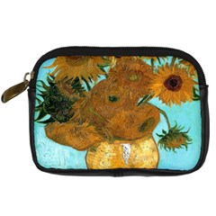 Vase With Twelve Sunflowers By Vincent Van Gogh 1889  Digital Camera Leather Case