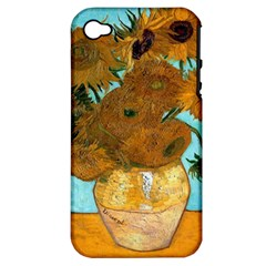 Vase With Twelve Sunflowers By Vincent Van Gogh 1889  Apple iPhone 4/4S Hardshell Case (PC+Silicone)
